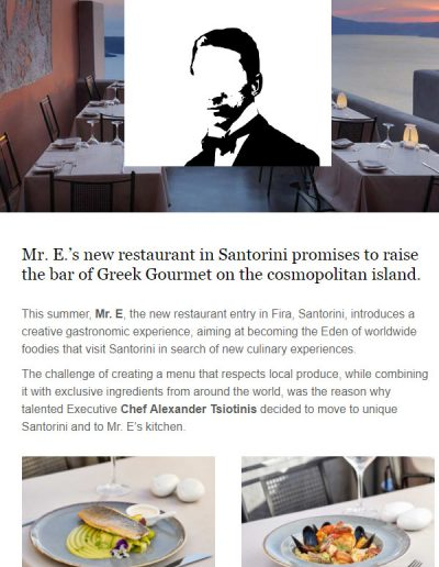 Mr E Restaurant Santorini